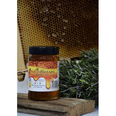 Θυμαρίσιο μέλι Καλύμνου γυάλινο βάζο πολυτελείας Plus 250γρ