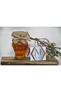 Θυμαρίσιο μέλι Καλύμνου γυάλινο βάζο Αμφορέας 250γρ